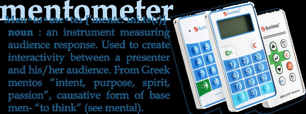 Mentometer dictionary