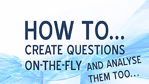 How to create questions on-the-fly